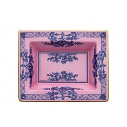 Richard Ginori Oriente Italiano Azalea Rectangular Vide Poche 6 x 7 In