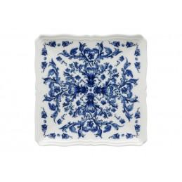 Richard Ginori Babele Blu Squared Plate 21 cm - 8 1/2 In