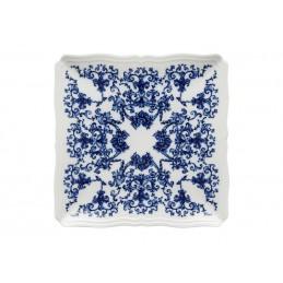 Richard Ginori Babele Blu Squared Plate 26 cm - 11 1/ 4 In