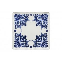 Richard Ginori Babele Blu Squared Plate 30 cm - 11 3/ 4 In