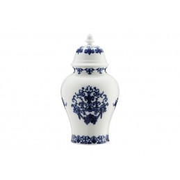 Richard Ginori Babele Blu Potiche Vase H. 31 cm-12 1/ 2 In with Cover