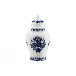 Richard Ginori Babele Blu Potiche Vase H. 31 cm-12 1/ 2 In with Cover