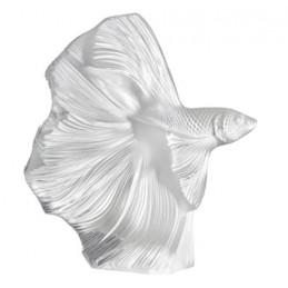 Lalique Pesce Combattente Scultura Piccola Cristallo Ref. 10672400