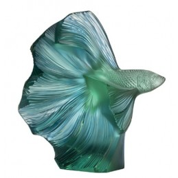 Lalique Fighting Fish Small Sculpture Crystal Ref. 10672700