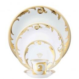 Versace Rosenthal Arabesque Gold Dinnerware Set 5 Pieces