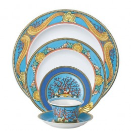 Versace Rosenthal Les Tresors de la Mer Dinnerware Set 5 Pieces