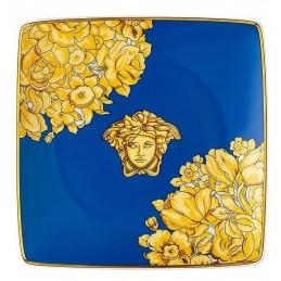 Versace Rosenthal Medusa Rhapsody Blue Bowl 12 cm Square Flat
