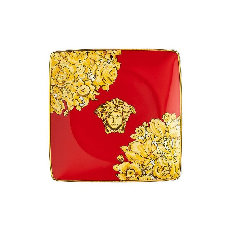Versace Medusa Rhapsody Red Coppetta Quadrata Piana 12 cm