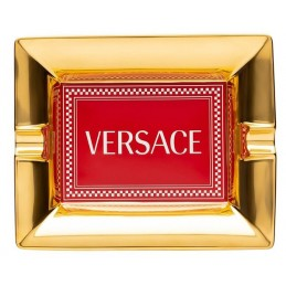 Versace Rosenthal Medusa Rhapsody Red Ashtray 16 cm