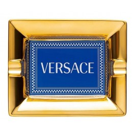 Versace Rosenthal Medusa Rhapsody Blue Ashtray 16 cm