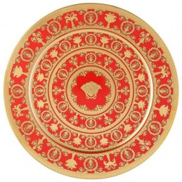 Versace Rosenthal I Love Baroque Rouge Plate 33 cm Limited Edition