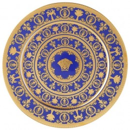 Versace Rosenthal I Love Baroque Blue Plate 33 cm Limited Edition