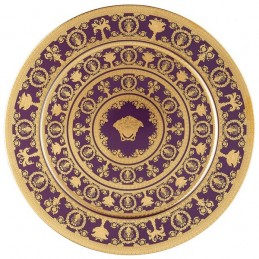 Versace Rosenthal I Love Baroque Violet Plate 33 cm Limited Edition