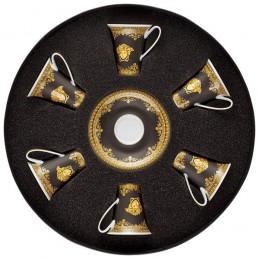 Versace Rosenthal I Love Baroque Black Set 6 Espresso Cups & Saucers