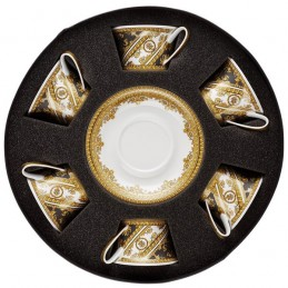 Versace Rosenthal I Love Baroque Set 6 Tea Cups & Saucer