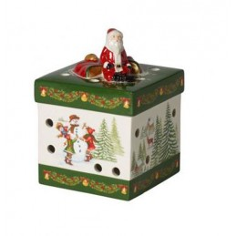 Villeroy & Boch Christmas Toy's Small Rectangular Gift Package Santa