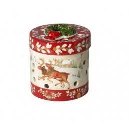 Villeroy & Boch Christmas Toy's Small Round Gift Package Reeinder