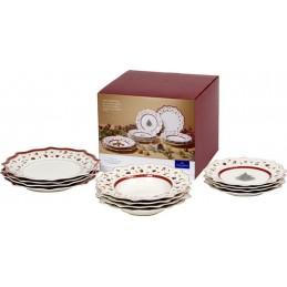 Villeroy & Boch Toy's Delight Set of Plates White, 12 Pcs