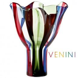 Venini Kukinto Vase, High H 47 cm Murano Glass
