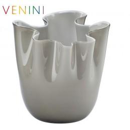 Venini Fazzoletto Opalino Vase, Medium, Taupe H 24 cm