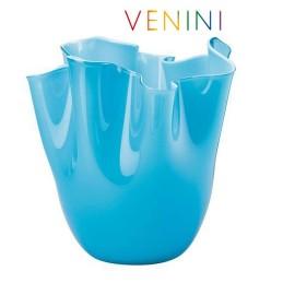 Venini Fazzoletto Opalino Vase, Small, Light Blue H 13 , 5 cm