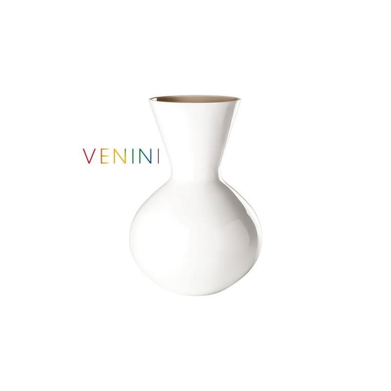 Venini Vaso Idria Lattimo /Talpa H 36 cm Vetro di Murano 706. 42