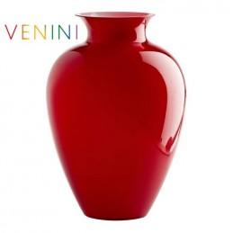 Venini Labuan Vase Large Red H 38. 5 cm Murano Glass