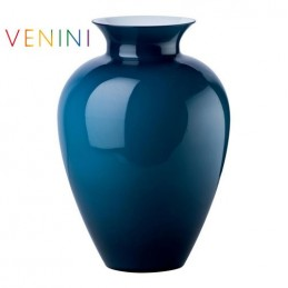 Venini Labuan Vase Large Dark Blue H 38. 5 cm Murano Glass
