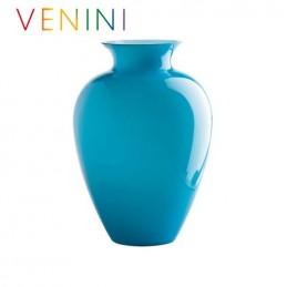 Venini Labuan Vase Small Light Blue H 29 cm Murano Glass