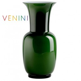 Venini Opalino Vase Small Apple Green H 30 cm Murano Glass