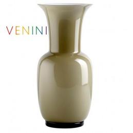 Venini Opalino Vase Small Taupe H 30 cm Murano Glass