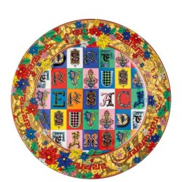 Versace Rosenthal Holiday Alphabet Christmas Plate 30 cm 2019