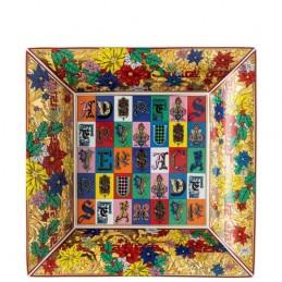 Versace Rosenthal Holiday Alphabet Dish 28 cm