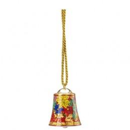 Versace Rosenthal Holiday Alphabet Porcelain Bell 7 cm