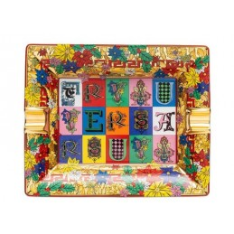 Versace Rosenthal Holiday Alphabet Ashtray 16 cm
