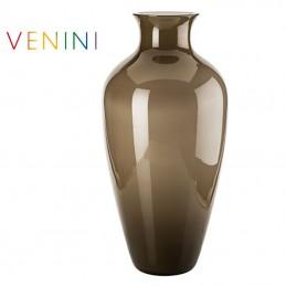 Venini Labuan Vase Tall Taupe H 65 cm Murano Glass