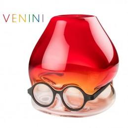 Venini Vaso Under Rosso Sfumato Cristallo 770. 51 ø 26 cm
