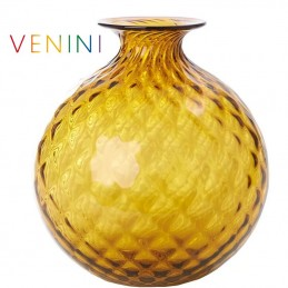 Venini Monofiori Balloton Vase Large Tea / Red Thread H 20. 5 cm