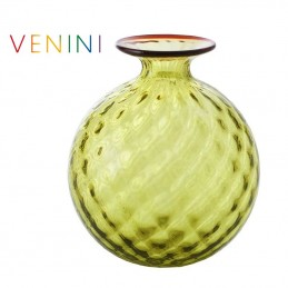 Venini Monofiori Balloton Vase Small Apple Green/Red Thread H 16.5 cm