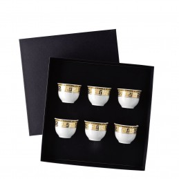 Versace Rosenthal Prestige Gala Set of 6 Mugs Small without Handle