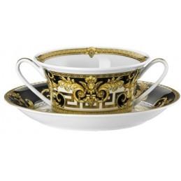 Versace Rosenthal Prestige Gala Creamsoup Cup & Saucer