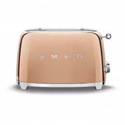 Smeg 2 Slice Toaster Rose Gold 50's Retro Style Aesthetic