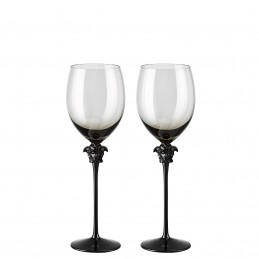 Versace Rosenthal Medusa Lumiere Haze Set of Two Water Goblet