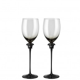 Versace Rosenthal Medusa Lumiere Haze Set of Two Red Wine Goblet