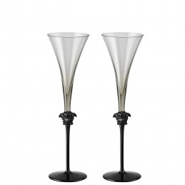 Versace Rosenthal Medusa Lumiere Haze Set of Two White Wine Goblet