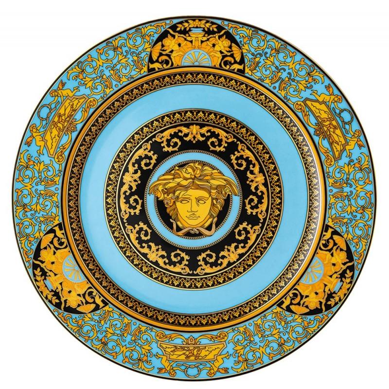 Versace Rosenthal Medusa Colours Plate 30 cm Medusa Celeste