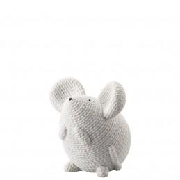 Rosenthal Pets Large Mouse Elvis White H 9, 5 cm