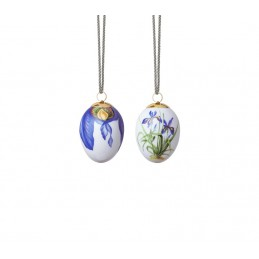 Royal Copenhagen Coppia Uova di Pasqua 2020 Iris e Iris Petals 2 Pz