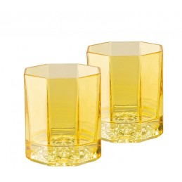 Versace Rosenthal Medusa Lumiere Amber Set of Two Whisky Glass