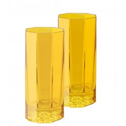 Versace Rosenthal Medusa Lumiere Amber Set of Two Longdrink Glass
